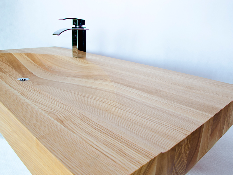 how to make a timber sink in water